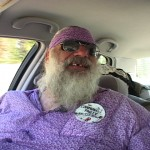 Ian McGaughey rides with Dan the Hitcher